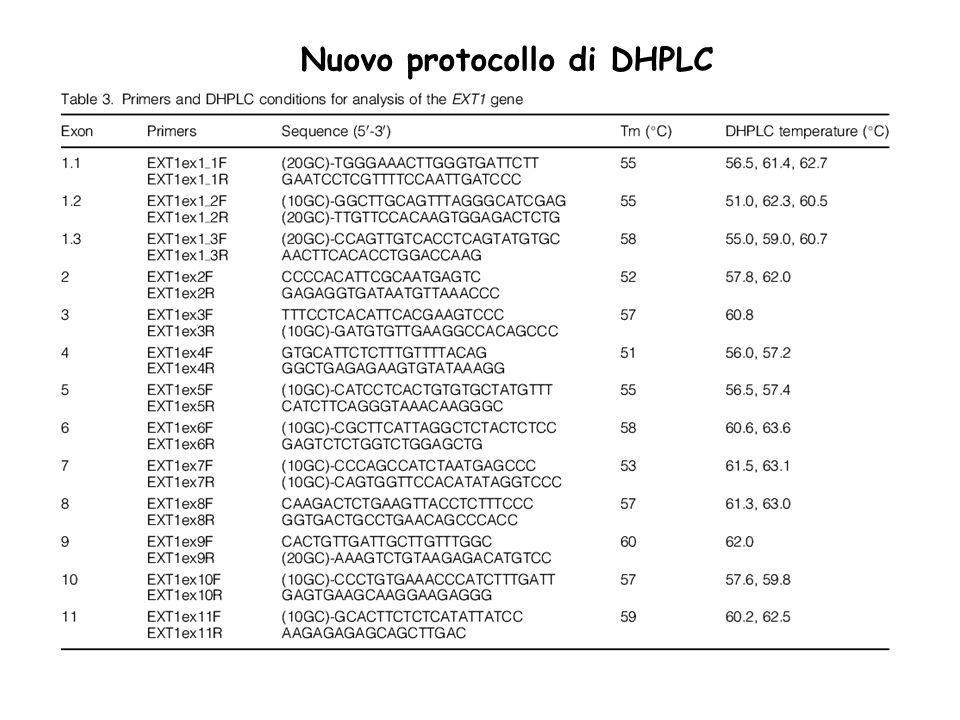 Nuovo protocollo di DHPLC