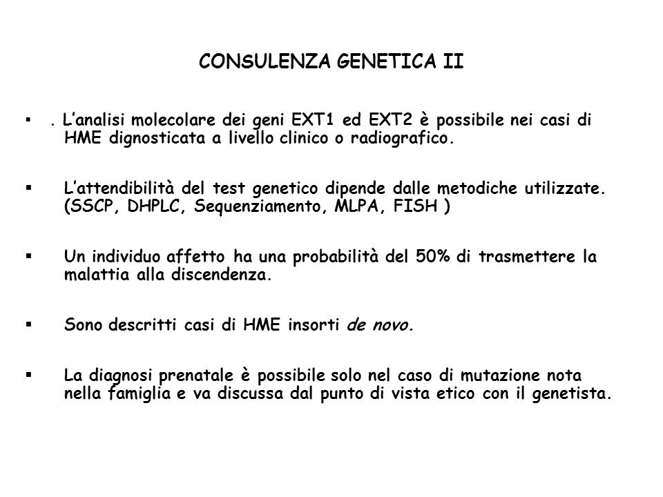 CONSULENZA GENETICA II.