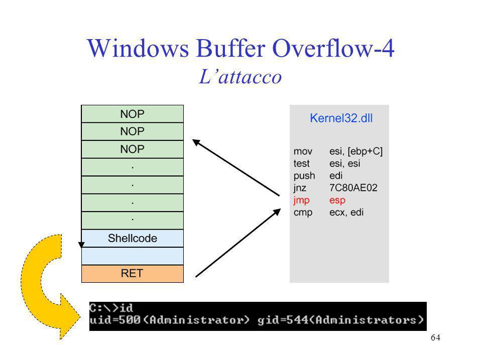 64 Windows Buffer Overflow-4 Lattacco