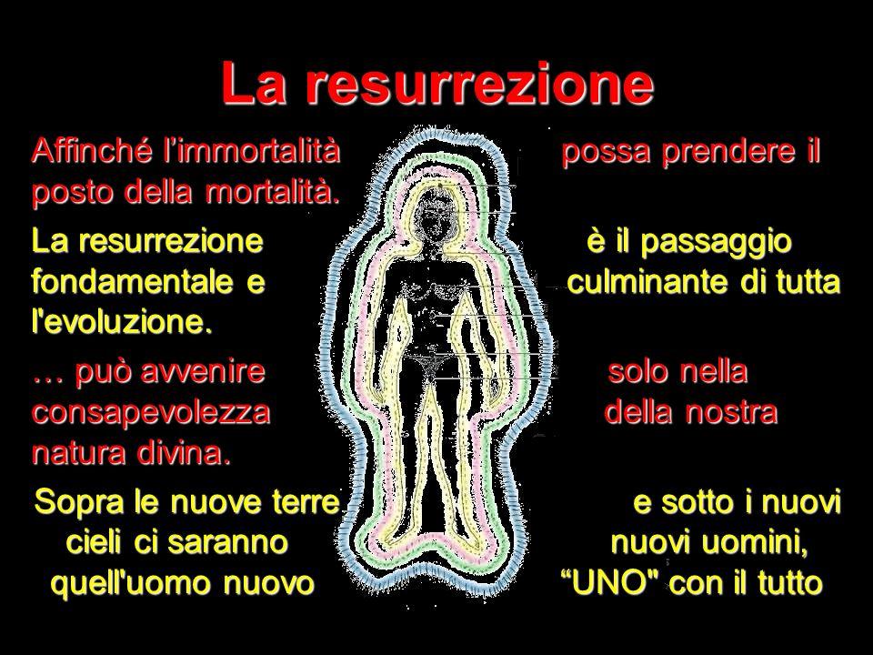 13 La resurrezione Affinché limmortalità possa prendere il posto della mortalità. La resurrezione è il passaggio fondamentale e culminante di tutta l'