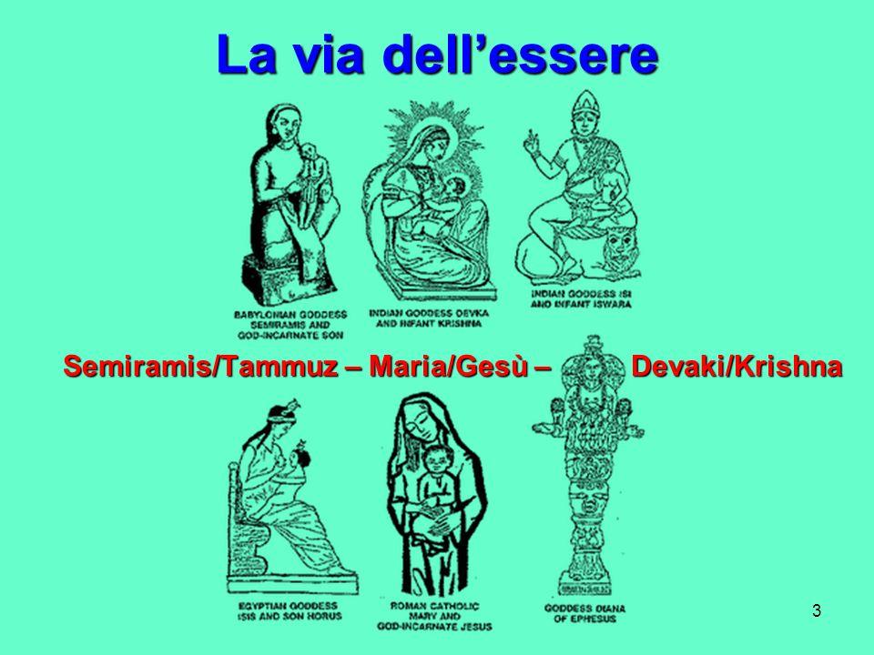 3 La via dellessere Semiramis/Tammuz – Maria/Gesù – Devaki/Krishna Semiramis/Tammuz – Maria/Gesù – Devaki/Krishna