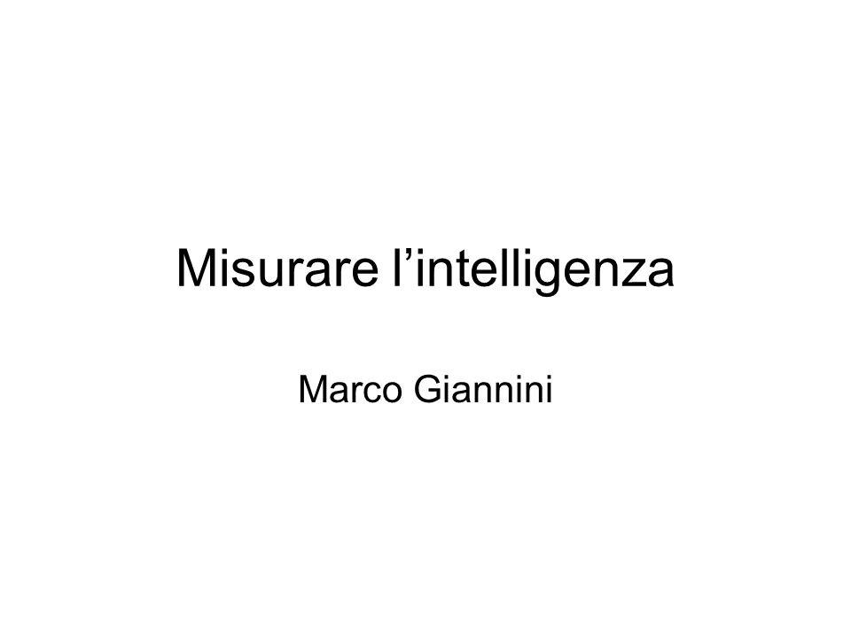 Misurare lintelligenza Marco Giannini