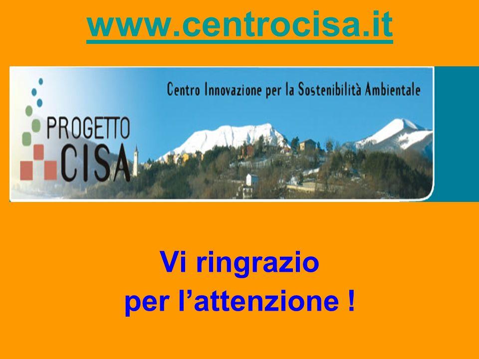 www.centrocisa.it Vi ringrazio per lattenzione !