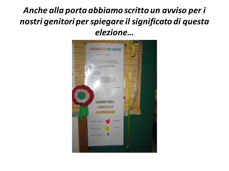 Abbiamo messo anche le bandiere dellItalia per dire che nel nostro paese cè il diritto al voto come espressione democratica