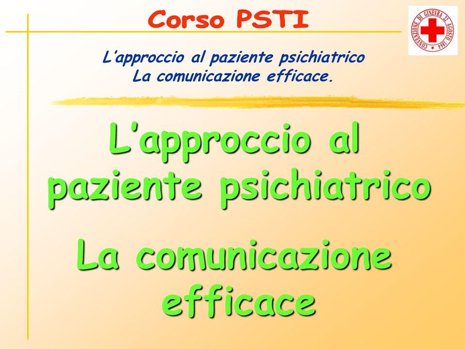 Lapproccio al paziente psichiatrico La comunicazione efficace.