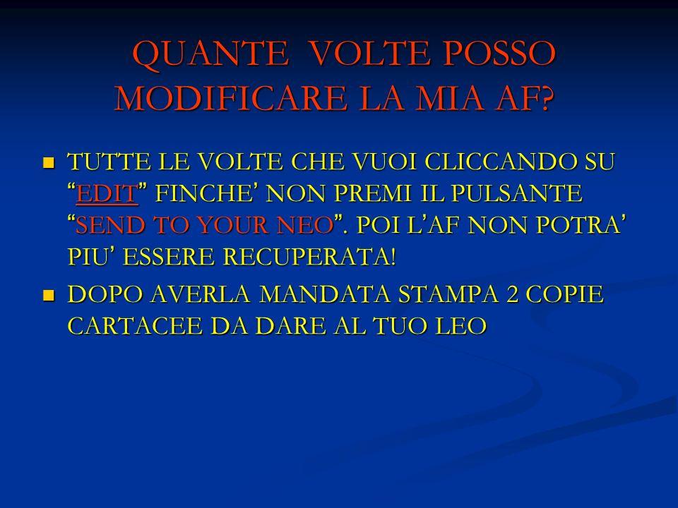ATTENZIONE!!.NON SARANNO ACCETTATI RITARDI DI ALCUN GENERE NELLA CONSEGNA DELLA DOCUMENTAZIONE.