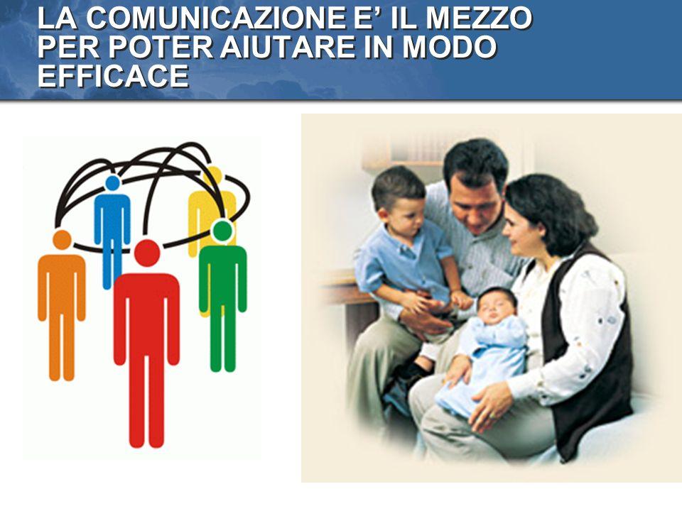 LA COMUNICAZIONE E IL MEZZO PER POTER AIUTARE IN MODO EFFICACE