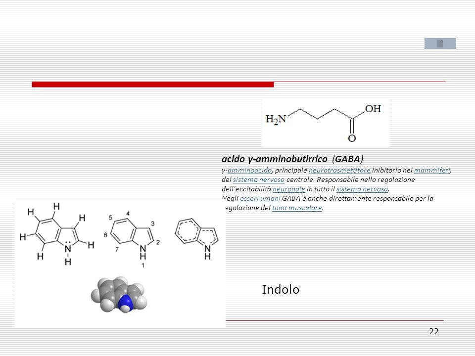 acido γ-amminobutirrico (GABA) γ-amminoacido, principale neurotrasmettitore inibitorio nei mammiferi,amminoacidoneurotrasmettitoremammiferi del sistem