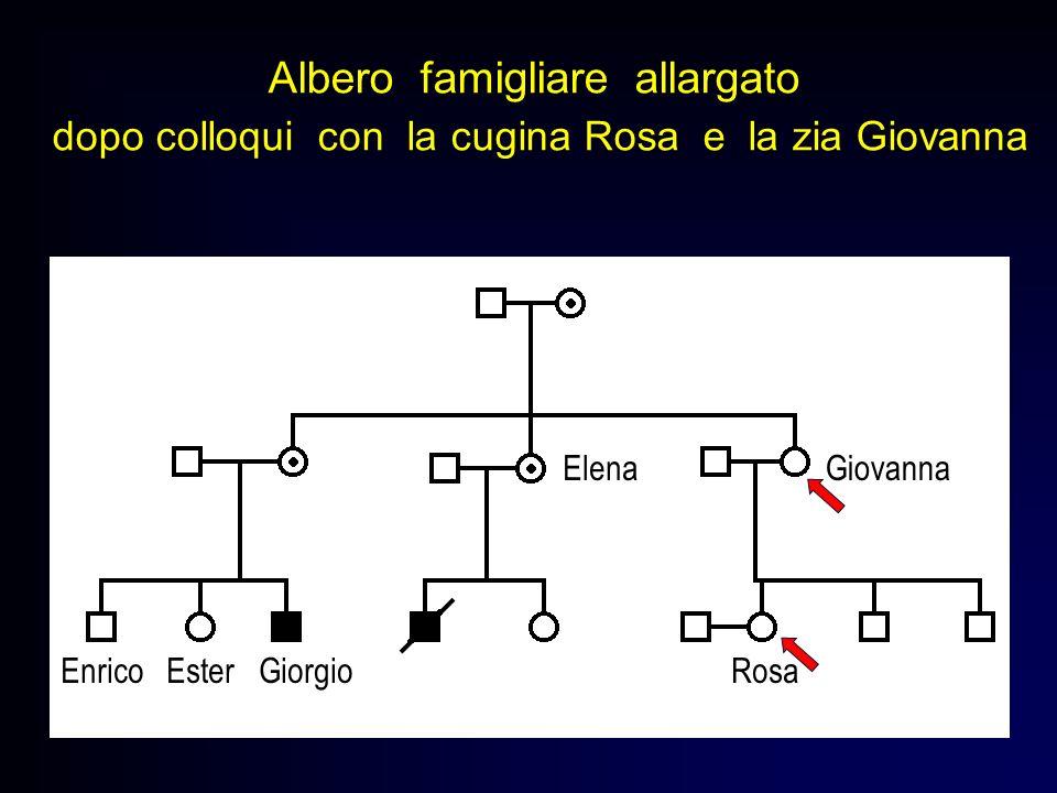 Albero famigliare allargato dopo colloqui con la cugina Rosa e la zia Giovanna Enrico Ester Giorgio Rosa GiovannaElena
