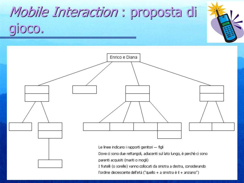 Mobile Interaction : proposta di gioco.