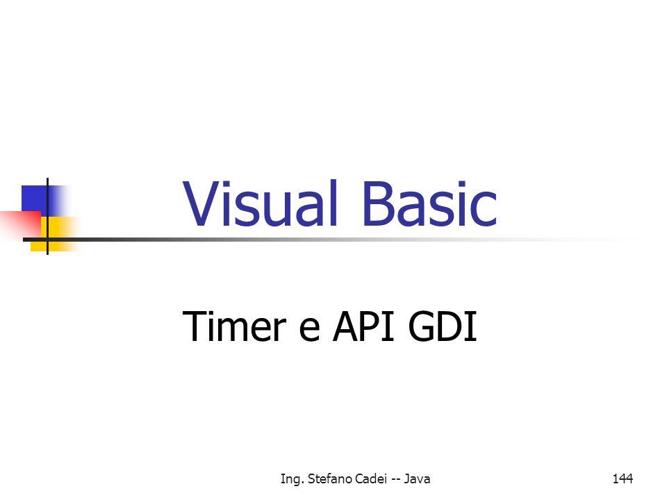 Ing. Stefano Cadei -- Java144 Visual Basic Timer e API GDI