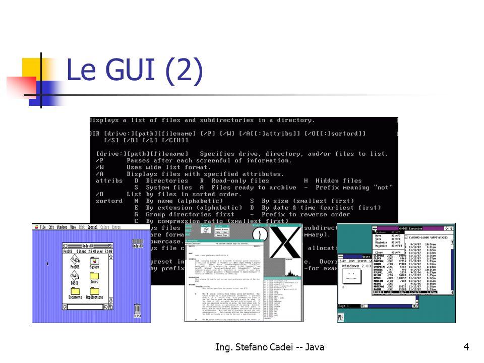 Ing. Stefano Cadei -- Java4 Le GUI (2)