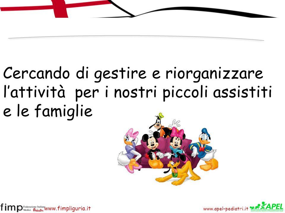www.apel-pediatri.it www.fimpliguria.it Cercando di gestire e riorganizzare lattività per i nostri piccoli assistiti e le famiglie