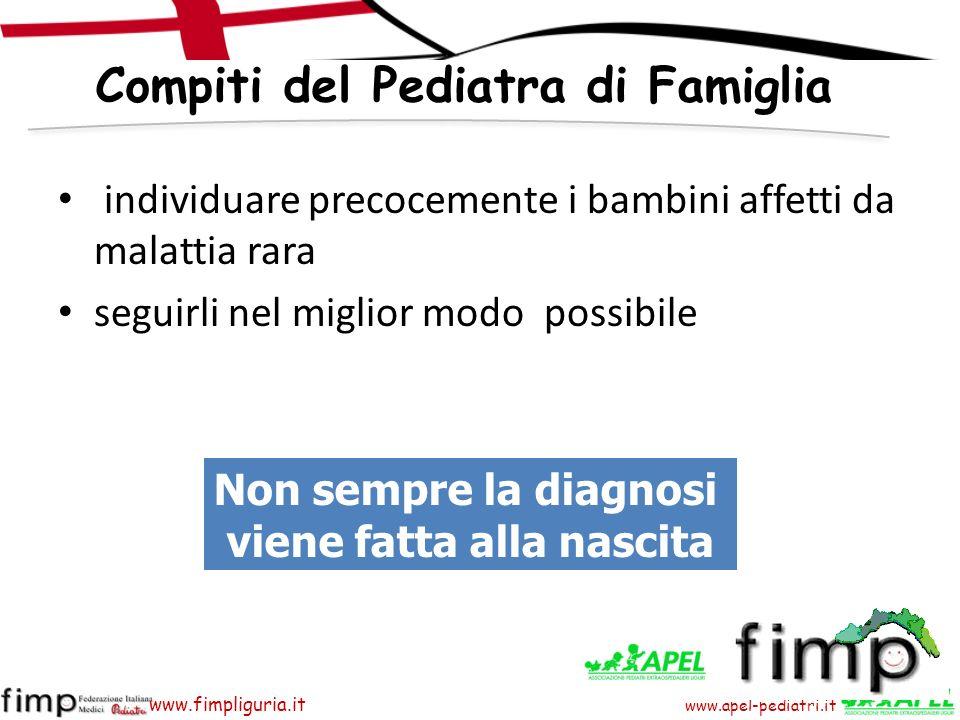 www.apel-pediatri.it www.fimpliguria.it 1 persona su 200 è affetta da una condizione clinica rara ad alta complessità assistenziale.