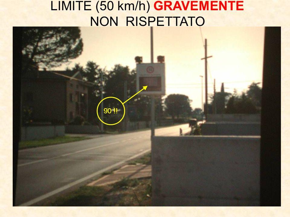 90 !! LIMITE (50 km/h) GRAVEMENTE NON RISPETTATO