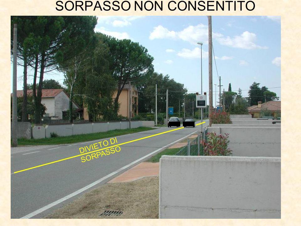 SORPASSO NON CONSENTITO DIVIETO DI SORPASSO