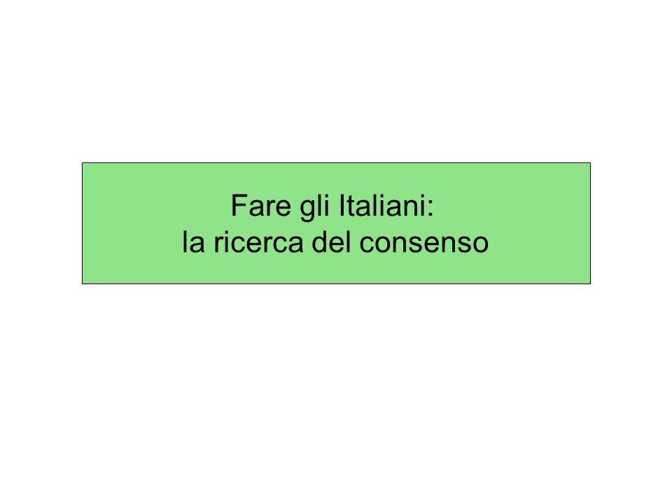 Fare gli Italiani: la ricerca del consenso