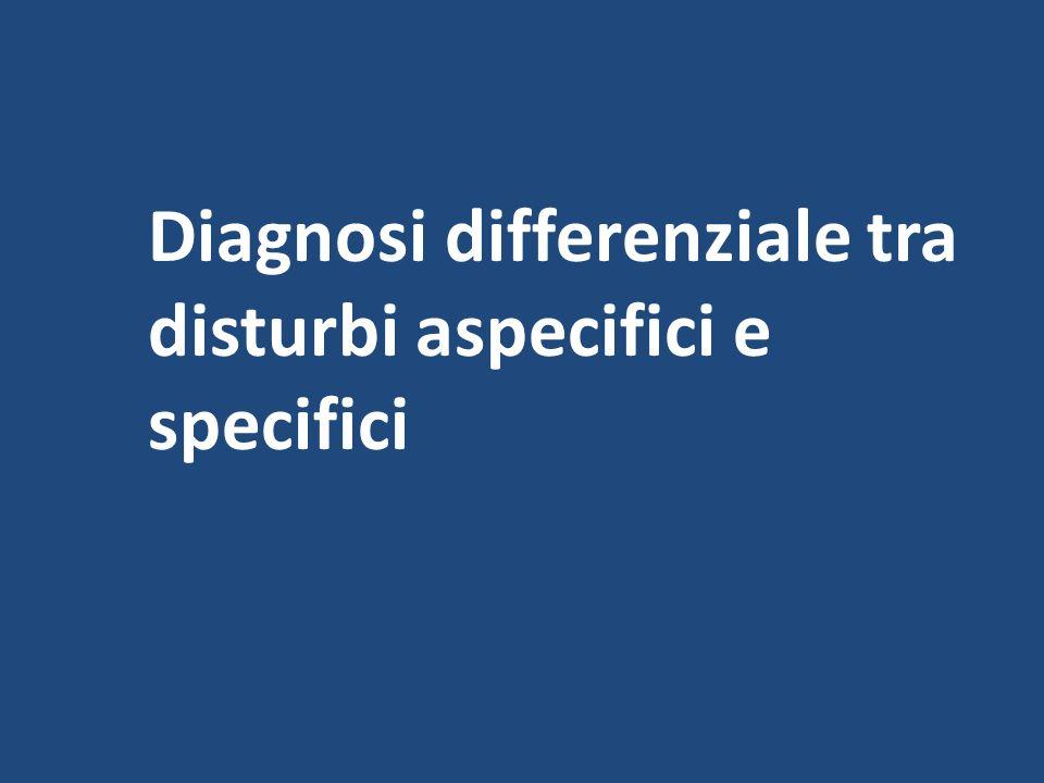 Diagnosi differenziale tra disturbi aspecifici e specifici