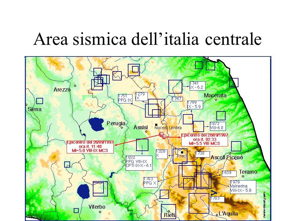 Area sismica dellitalia centrale