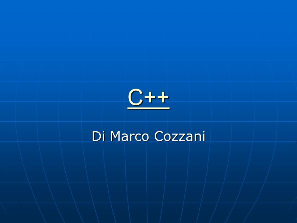 C++ Di Marco Cozzani
