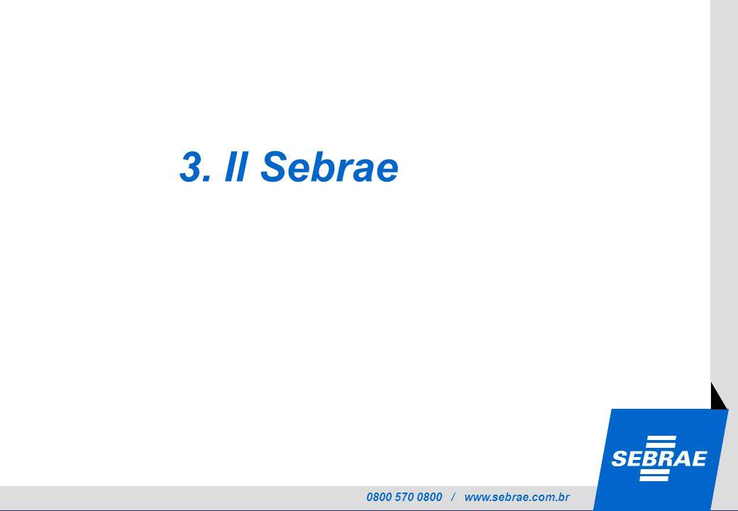 0800 570 0800 / www.sebrae.com.br 3. Il Sebrae