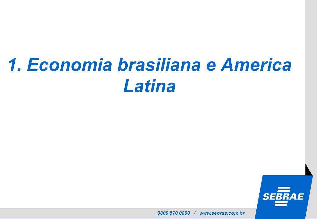 0800 570 0800 / www.sebrae.com.br 1. Economia brasiliana e America Latina