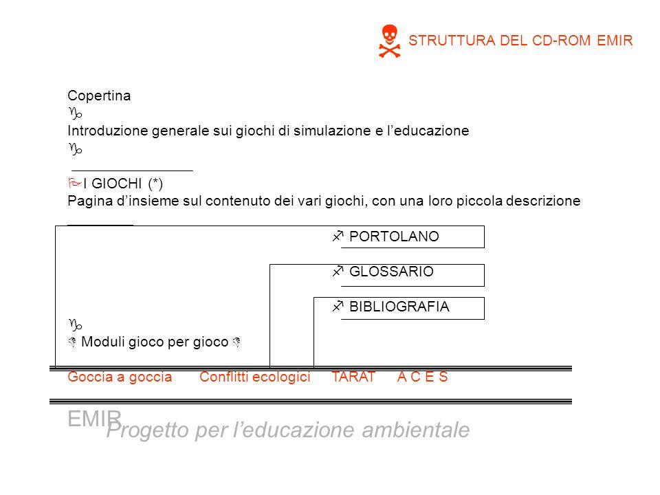 Copertina g Introduzione generale sui giochi di simulazione e leducazione g PI GIOCHI (*) Pagina dinsieme sul contenuto dei vari giochi, con una loro