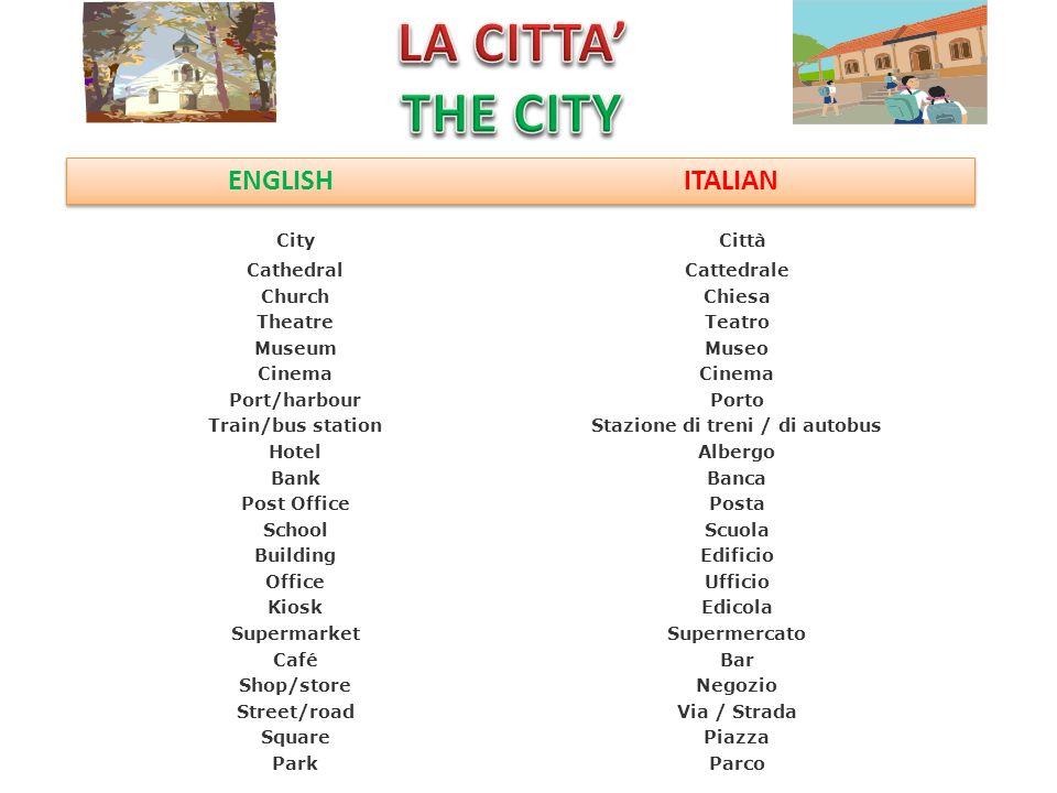 ENGLISH ITALIAN