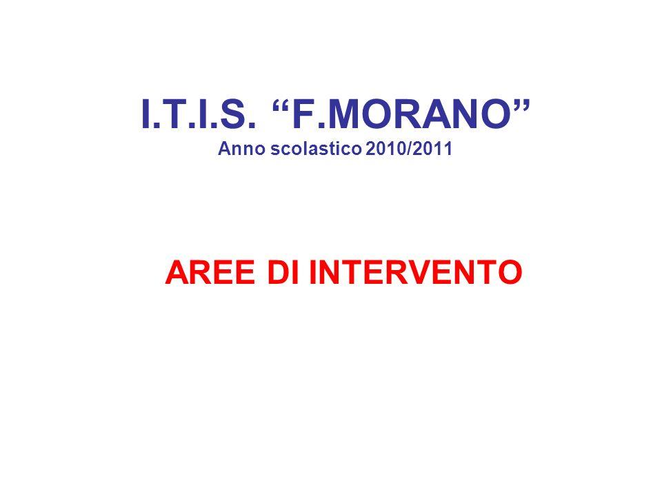 I.T.I.S. F.MORANO Anno scolastico 2010/2011 AREE DI INTERVENTO