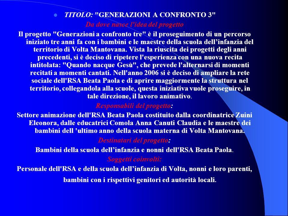 Scuola dellinfanzia di Volta Mantovana Progetto territorio: