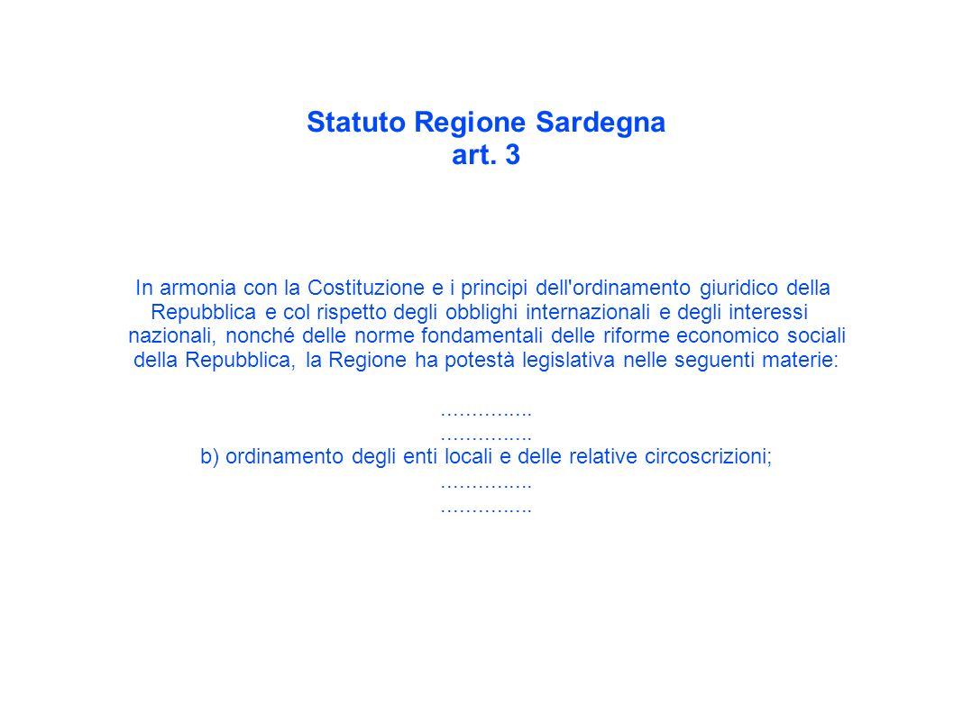 Statuto Regione Sardegna art.