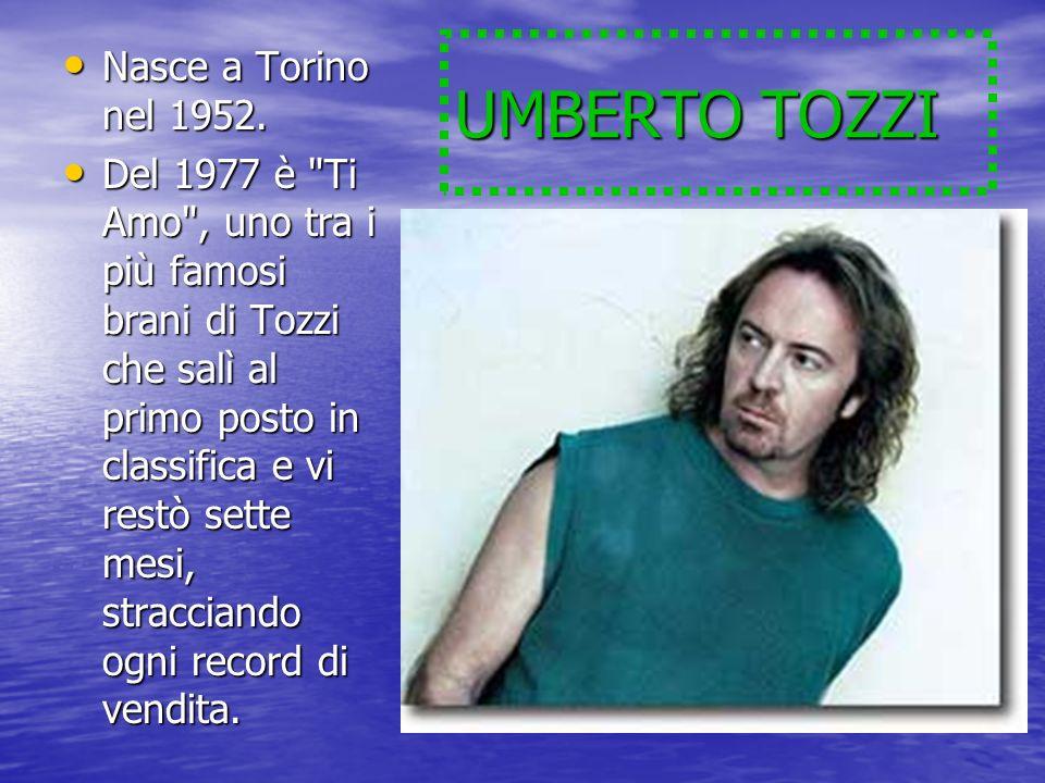 UMBERTO TOZZI Nasce a Torino nel 1952. Nasce a Torino nel 1952. Del 1977 è