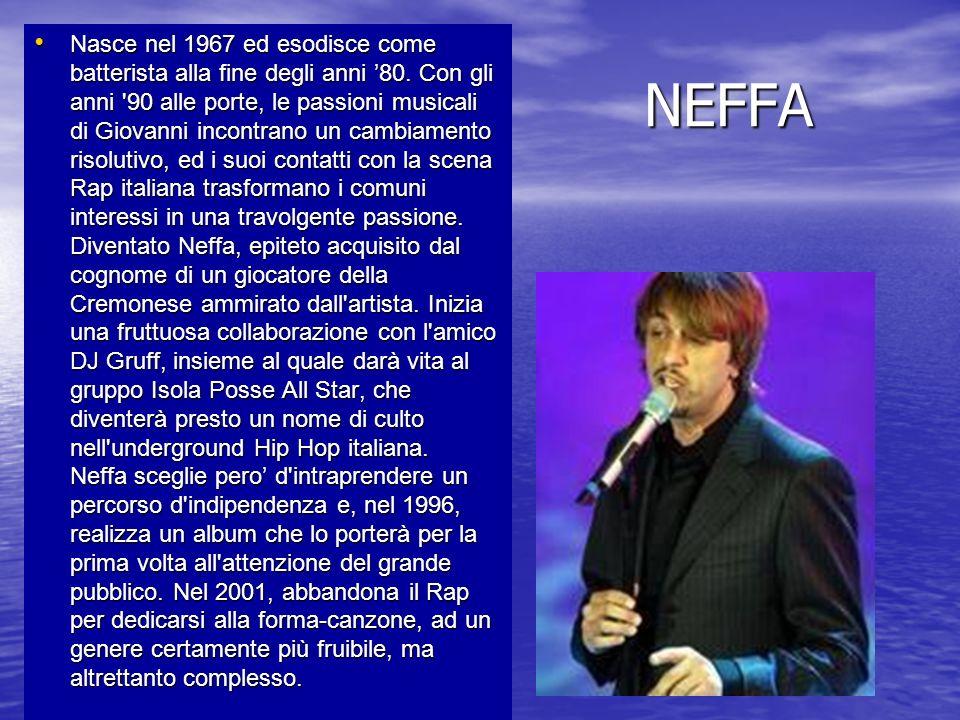 NEFFA Nasce nel 1967 ed esodisce come batterista alla fine degli anni 80. Con gli anni '90 alle porte, le passioni musicali di Giovanni incontrano un
