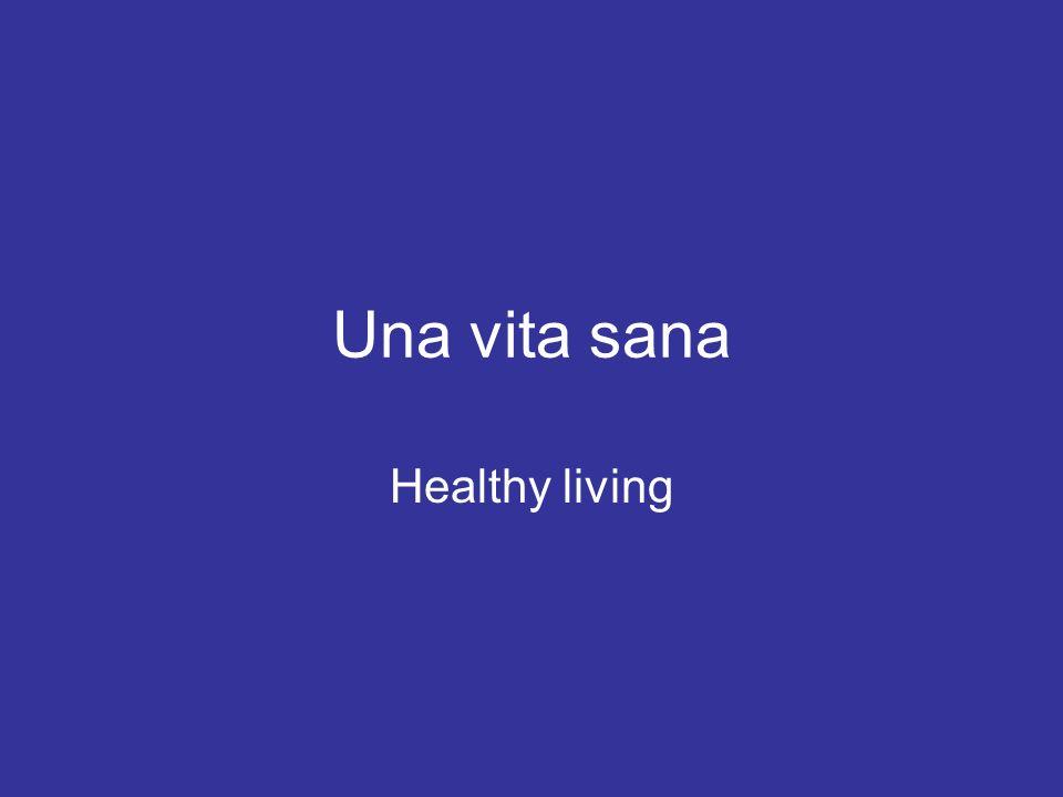 Una vita sana Trovate i sei consigli giusti per avere una vita sana ABCDEFGHIJKLABCDEFGHIJKL Fumate venti sigarette al giorno.