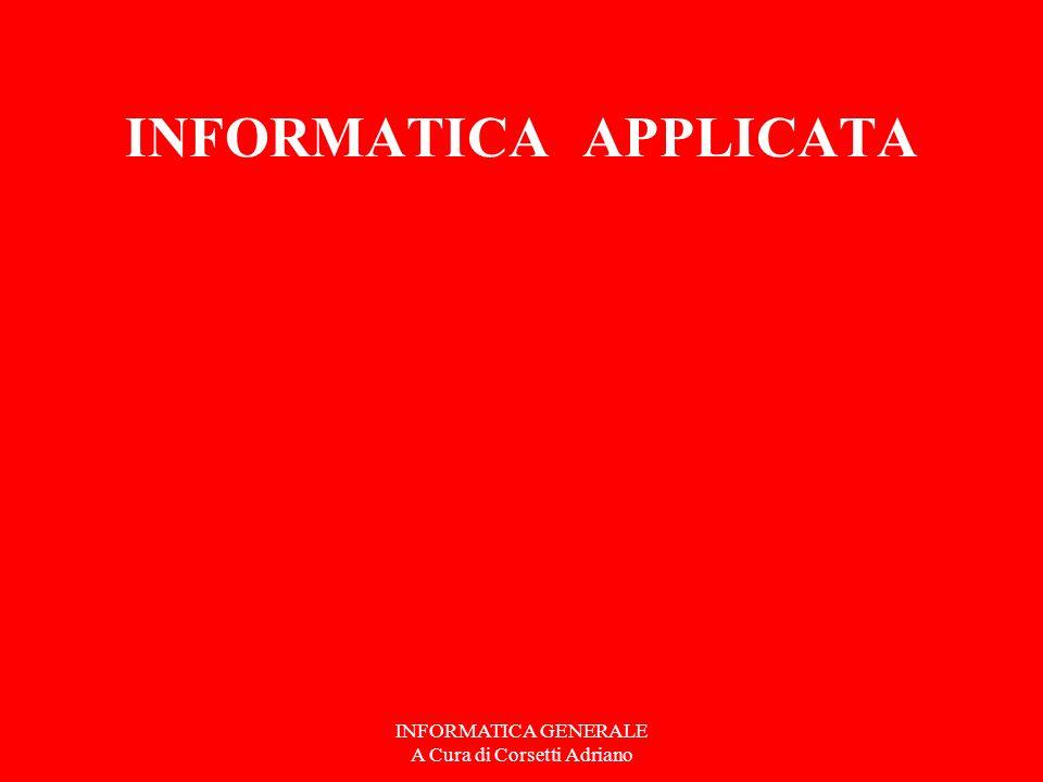 INFORMATICA GENERALE A Cura di Corsetti Adriano INIZIAMO UN PROCESSO APPLICATIVO TEMA ….. E relativa quietanza di pagamento. WORD OUTLOOK EXPRESS