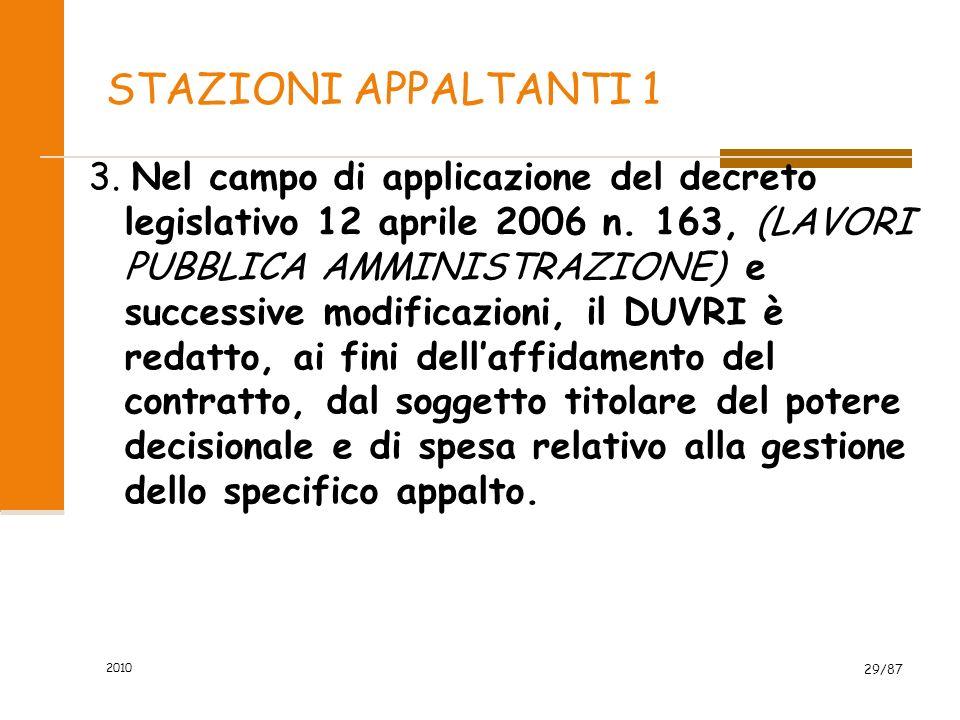 2010 28/87 Articolo 26 Obblighi connessi ai contratti dappalto o dopera o di somministrazione Il datore di lavoro committente promuove la cooperazione