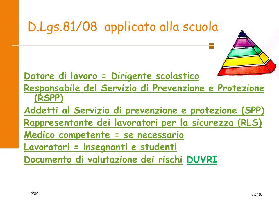 ORGANIZZAZIONE SICUREZZA 1) valutare gli specifici rischi dell'attività svolta nell'istituzione scolastica di riferimento; 2) elaborare un documento c