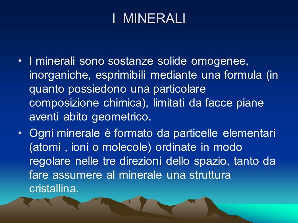 GEOLOGIA (studio della litosfera) Essa si divide in MINERALOGIA (studio dei minerali) e PETROGRAFIA ( studio delle rocce)