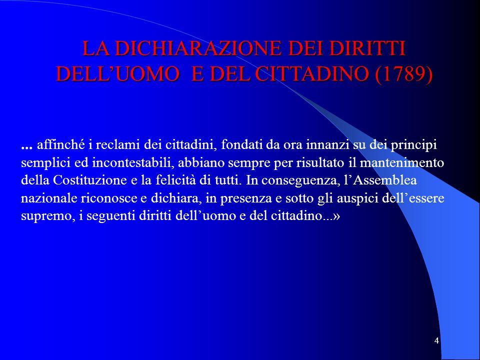 4 LA DICHIARAZIONE DEI DIRITTI DELLUOMO E DEL CITTADINO (1789)...
