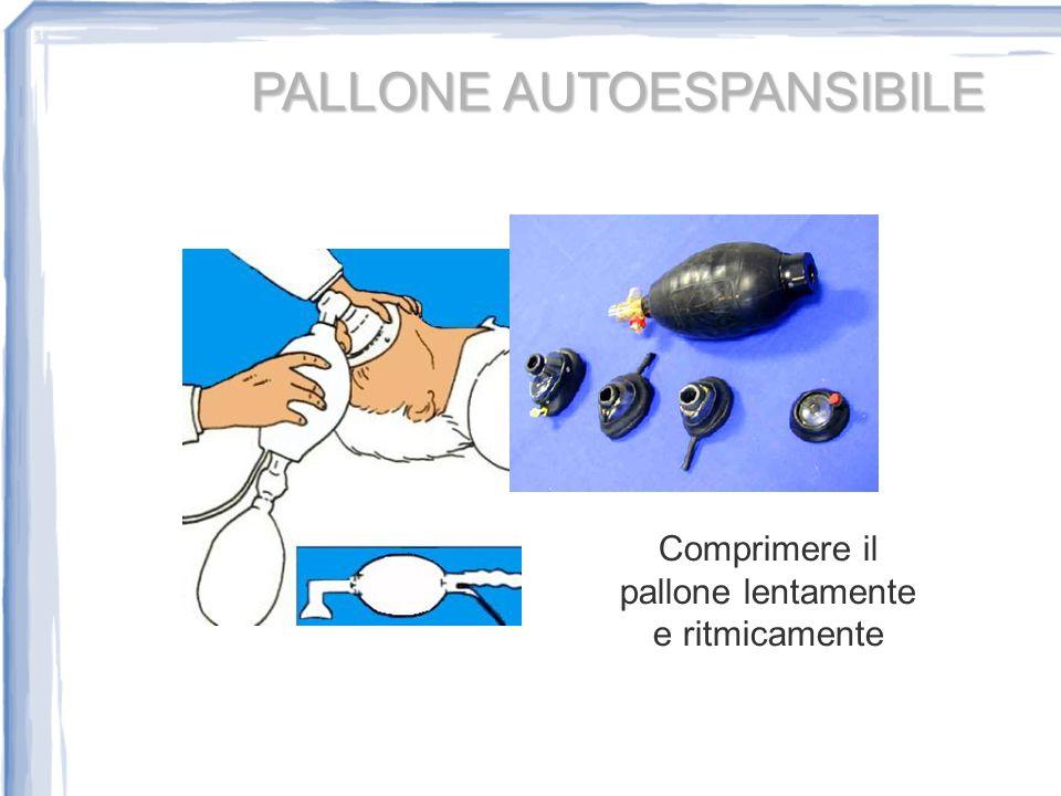 PALLONE AUTOESPANSIBILE Comprimere il pallone lentamente e ritmicamente