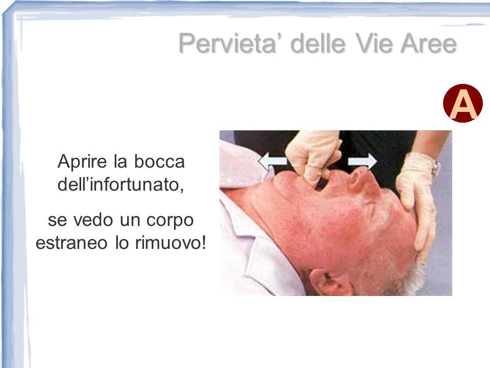 A Iperestensione della Testa Per effettuare lIperestensione della testa, si posizionano due dita sotto al mento e la mano sulla fronte
