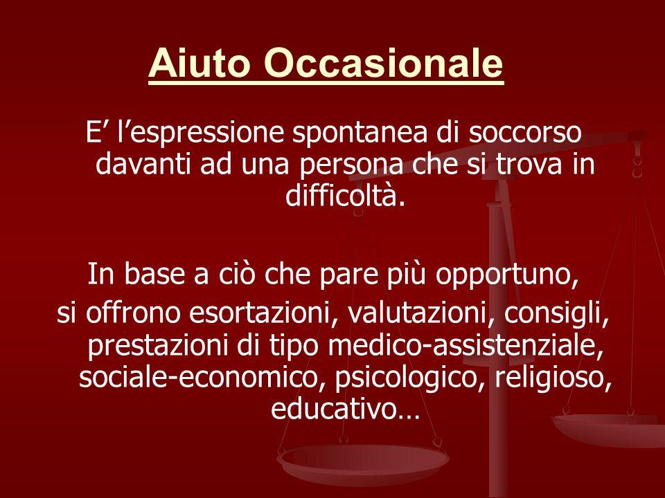 Aiuto Occasionale E lespressione spontanea di soccorso davanti ad una persona che si trova in difficoltà.