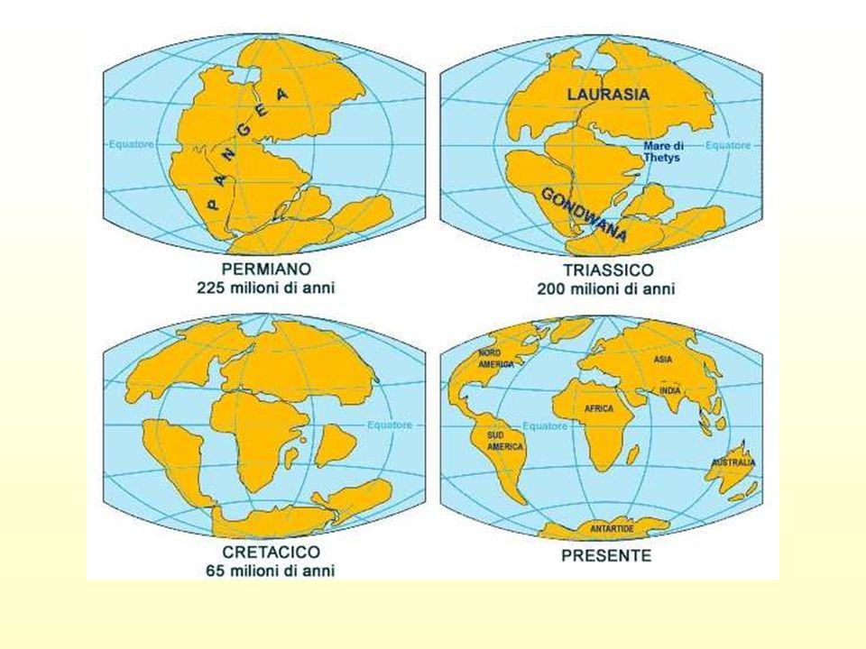 La Deriva dei Continenti Oggi I continenti sono tuttora in moto, con una velocità di pochi centimetri allanno; la loro attuale configurazione, quindi, non è definitiva.