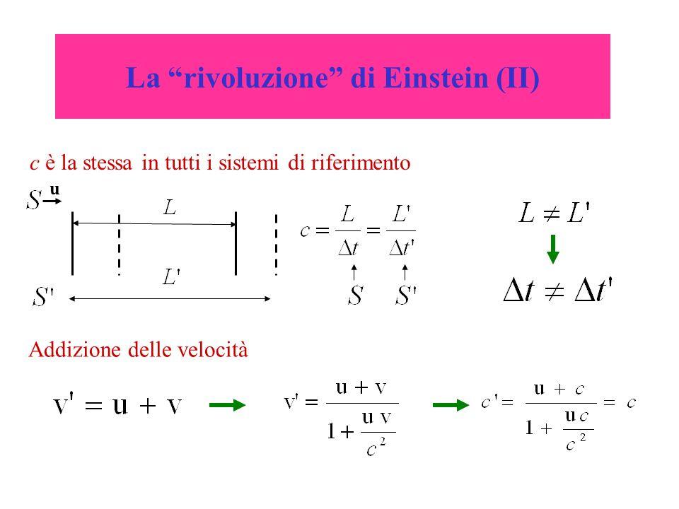 La rivoluzione di Einstein (III) Come decidere se due eventi sono simultanei.