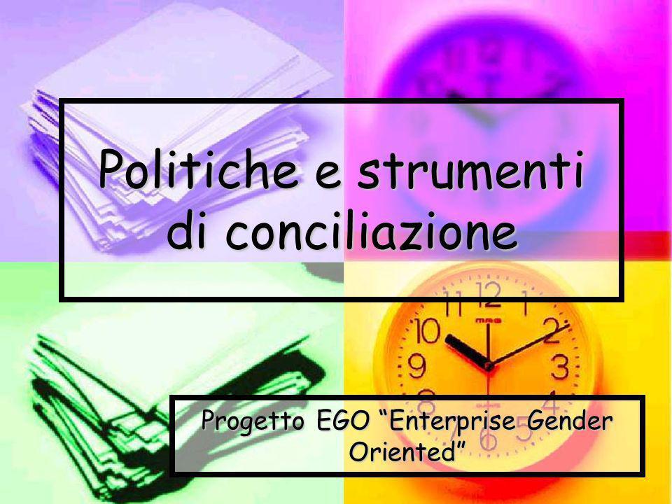 Politiche e strumenti di conciliazione Progetto EGO Enterprise Gender Oriented