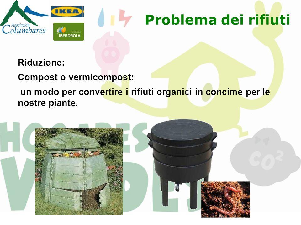 Riduzione: Compost o vermicompost: un modo per convertire i rifiuti organici in concime per le nostre piante. Problema dei rifiuti