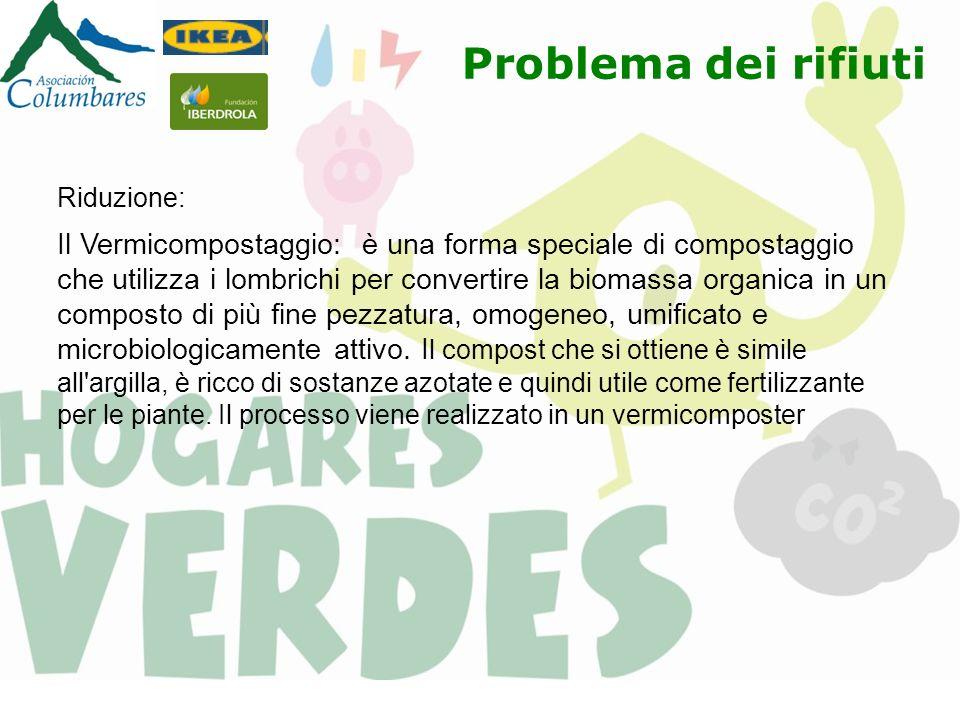 Riduzione: Il Vermicompostaggio: è una forma speciale di compostaggio che utilizza i lombrichi per convertire la biomassa organica in un composto di p