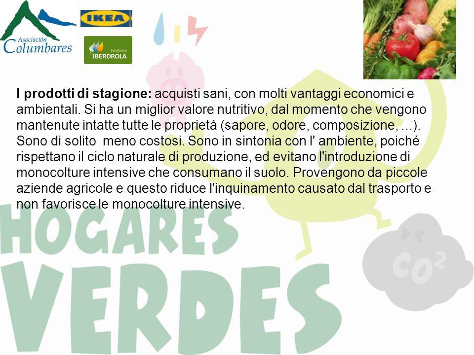 I prodotti di stagione: acquisti sani, con molti vantaggi economici e ambientali. Si ha un miglior valore nutritivo, dal momento che vengono mantenute