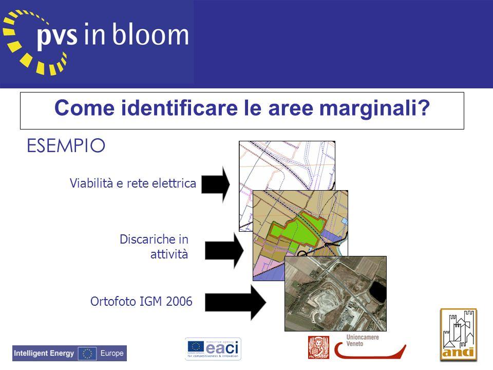 Viabilità e rete elettrica Discariche in attività Ortofoto IGM 2006 Come identificare le aree marginali?