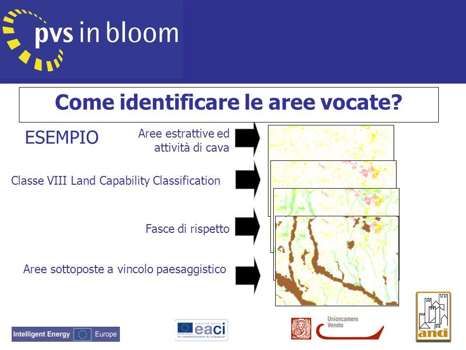 Aree estrattive ed attività di cava Classe VIII Land Capability Classification Fasce di rispetto Aree sottoposte a vincolo paesaggistico, naturalistic
